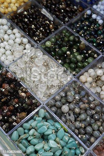 istock Semi precious gemstones pendant 1140805460