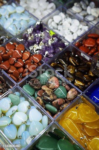 istock Semi precious gemstones pendant 1140805462