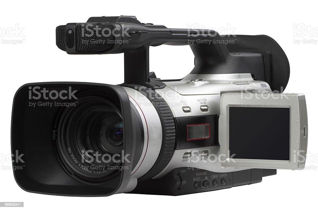 Semi professional camcorder royalty-free stock photo