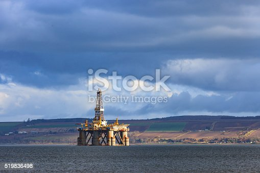 istock Semi Submersible Oil Rig at Cromarty Firth in Invergordon 519836498