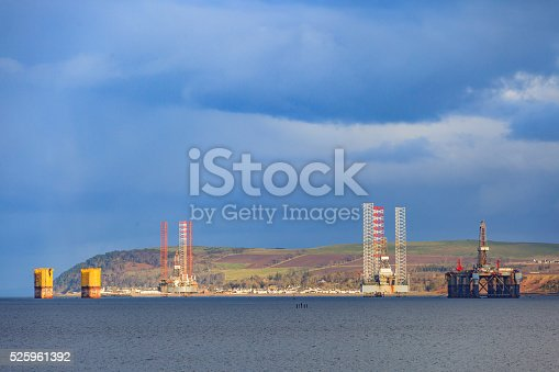 istock Semi Submersible Oil Rig at Cromarty Firth in Invergordon 525961392