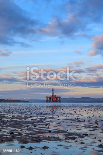 istock Semi Submersible Oil Rig at Cromarty Firth 536651160