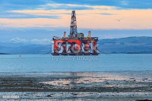 istock Semi Submersible Oil Rig at Cromarty Firth 545549564