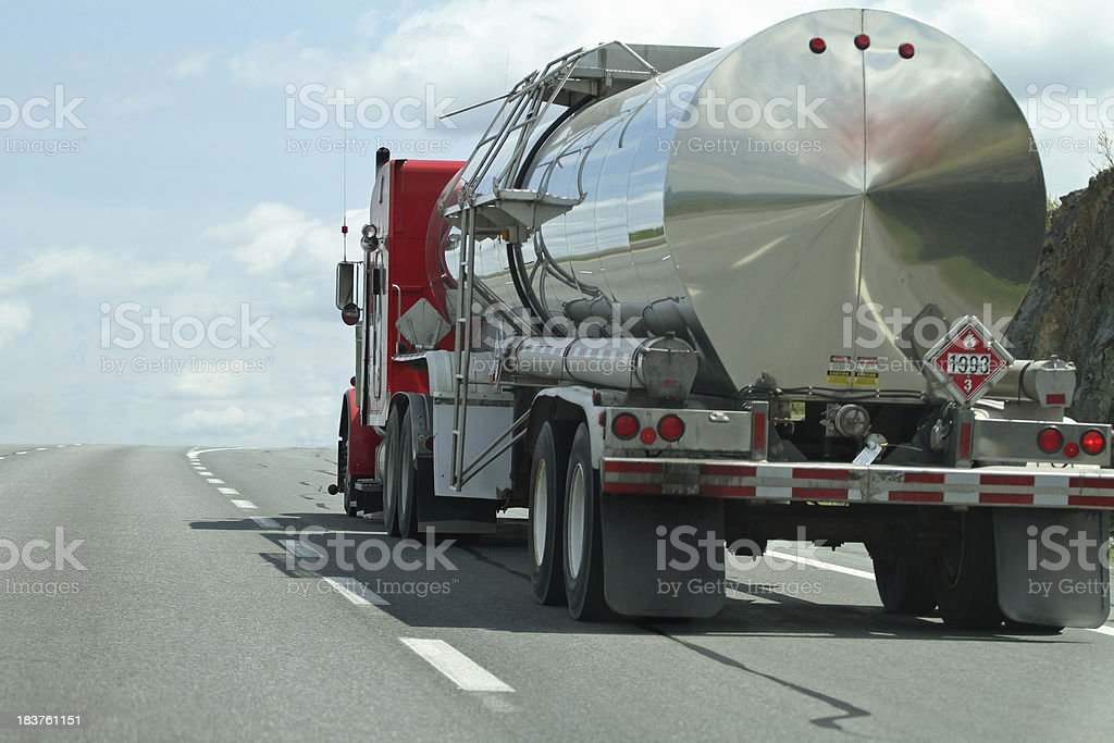 Semi Tanker Truck stock photo