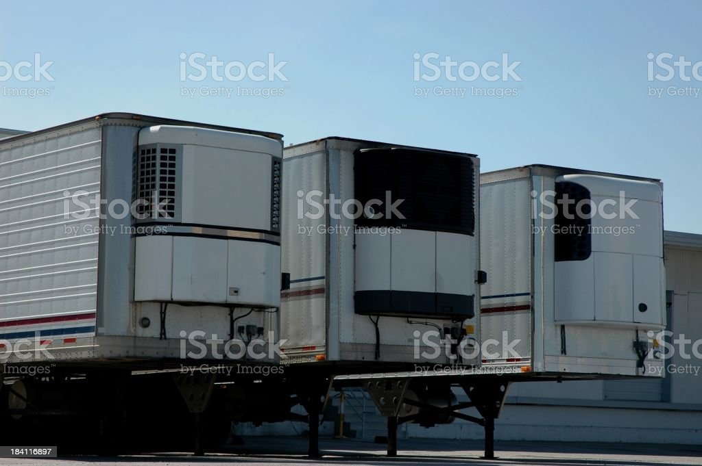 Semi Trailers at Loading Dock royalty-free stock photo
