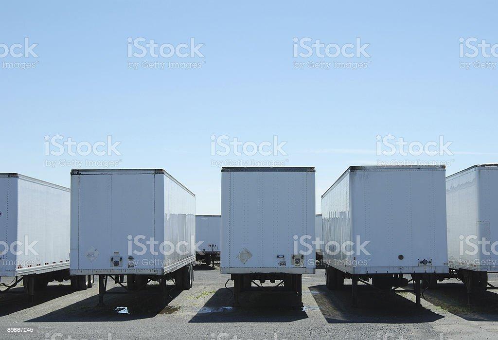 semi trailers royalty-free stock photo