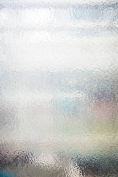 semi transparent structural glass pane for backgrounds stock photo