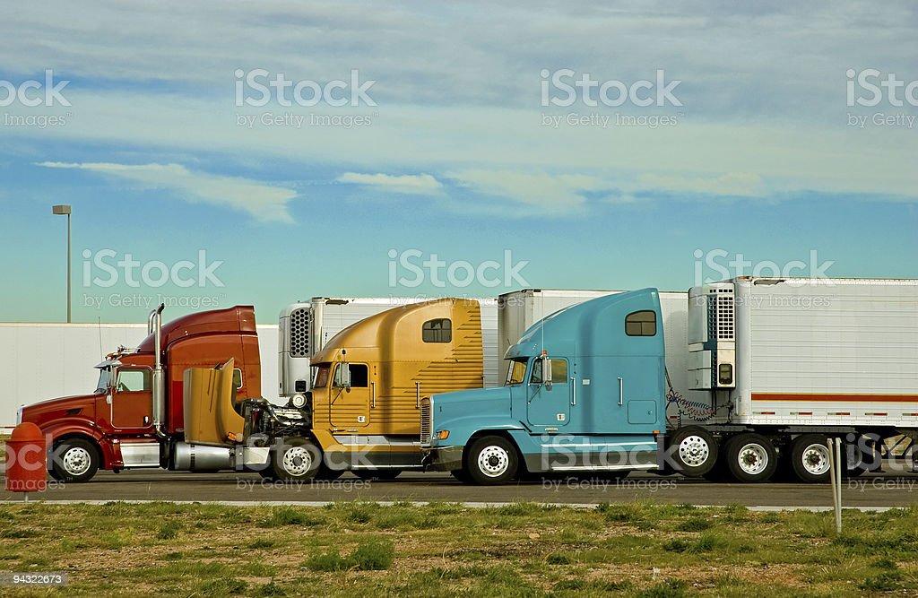Semi Transport Trucks stock photo