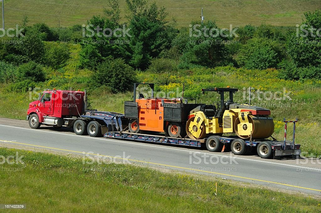Semi Truck and trailer royalty-free stock photo