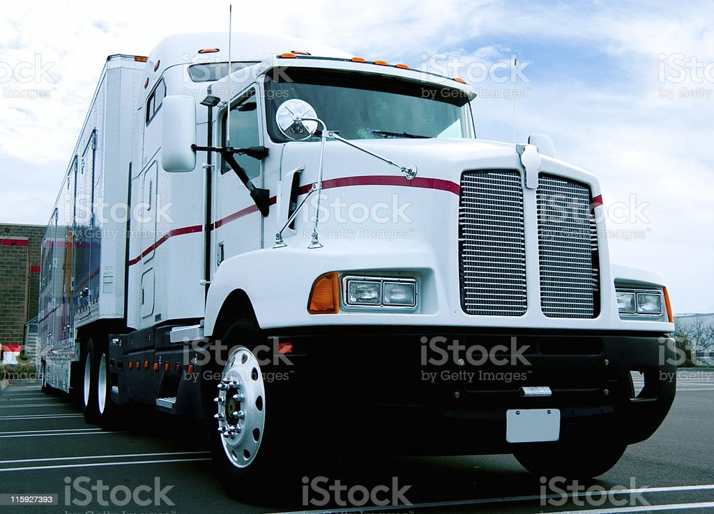Semi Truck: Low Angle View royalty-free stock photo