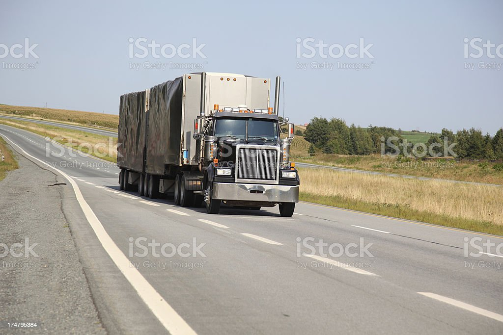 Semi Truck royalty-free stock photo