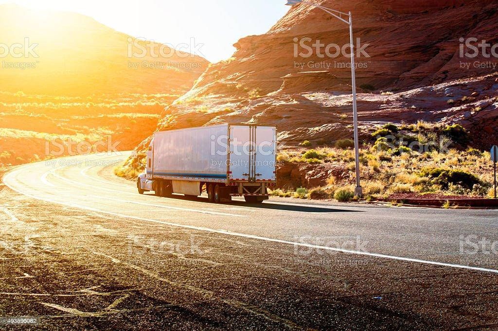 Semi truck stock photo