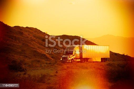 Semi Truck Sunset