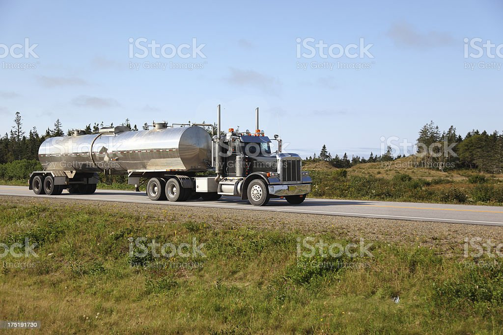 Semi Truck tanker royalty-free stock photo