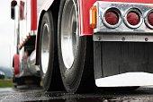 istock Semi Truck Tractor Rear View 1139739963