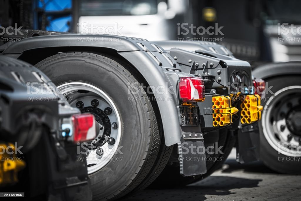 Semi Truck Tractors Closeup stock photo