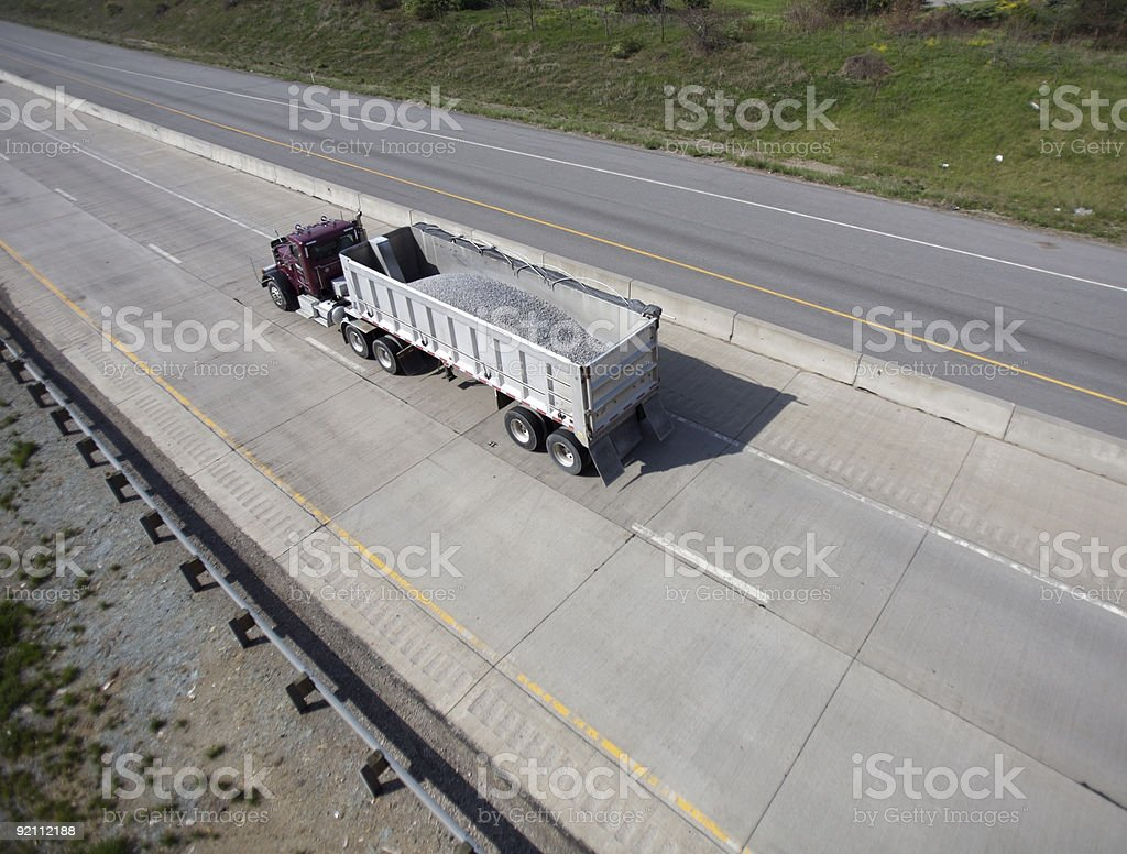 Semi with Load of Gravel royalty-free stock photo