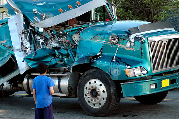 Semi Wreck  misfortune stock pictures, royalty-free photos & images