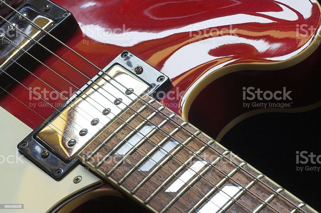 Pół-Gitara akustyczna zbiór zdjęć royalty-free