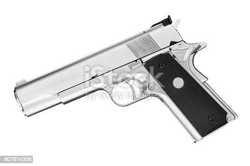 istock Semi-automatic handgun .45 pistol 607614356