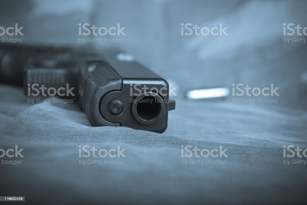 Semi-Automatic Pistol Barrel stock photo