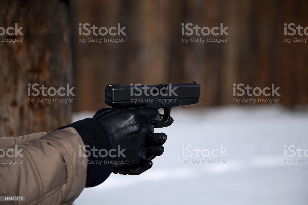 Semiautomatic  pistol royalty-free stock photo