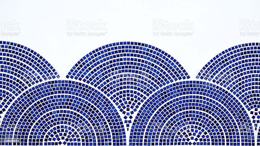 Semicircle mosaic stock photo