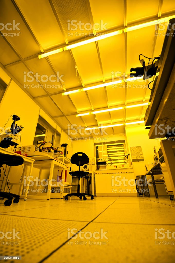 A Semiconductor Photolithography Darkroom Lit By Lowpressure Sodium
