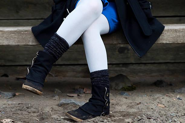 Semi-Crossed Legs stock photo