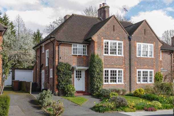 Semi-detached house in Pinner stock photo