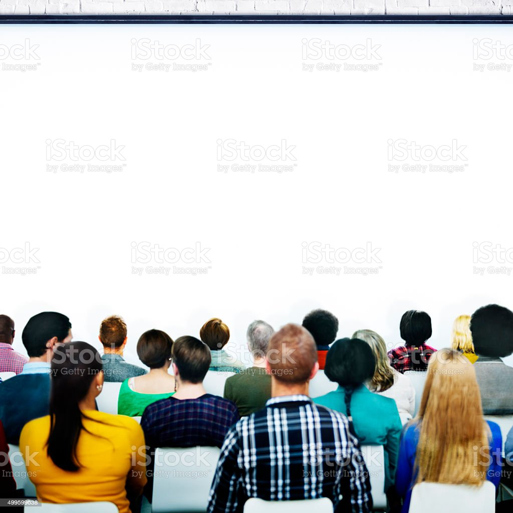 Seminar Conference Meeting Presentation Audience Concept stock photo