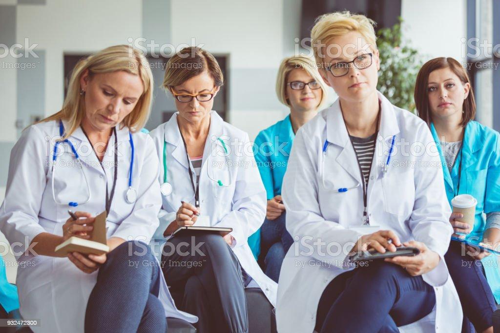 Seminar for medical personel stock photo