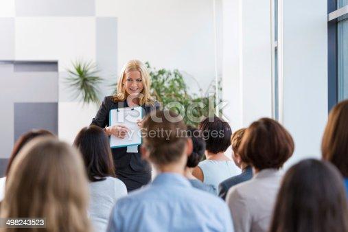 1028234706 istock photo Seminar for women 498243523