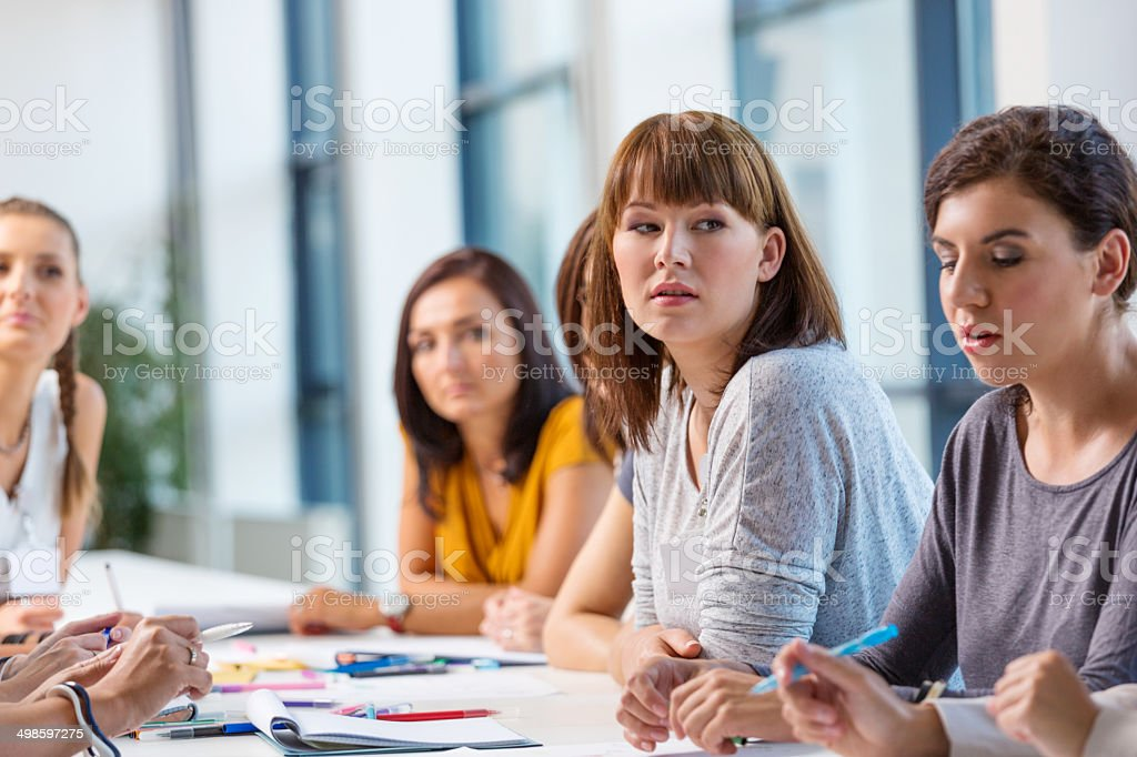 Seminar for women Group of diverse women attending a semiar. 30-39 Years Stock Photo