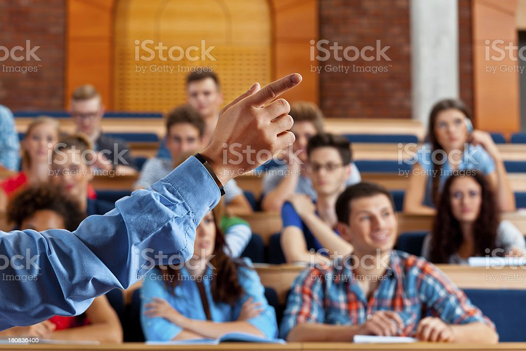 Seminar in lecure hall royalty-free stock photo