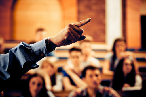 Seminar In Lecure Hall Stock Photo - Download Image Now