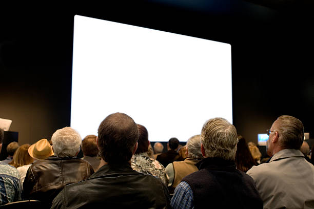 seminar - projection screen stock photos and pictures