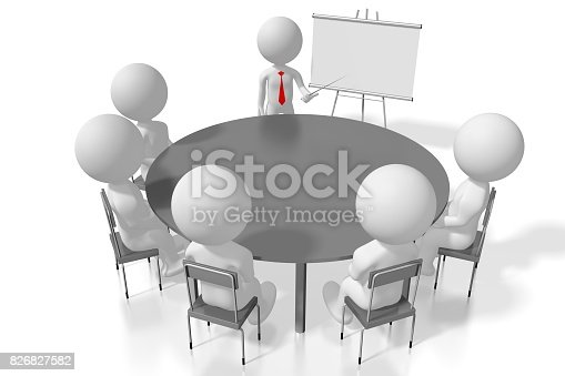 istock 3D seminar/ training/ case study/ conference concept 826827582