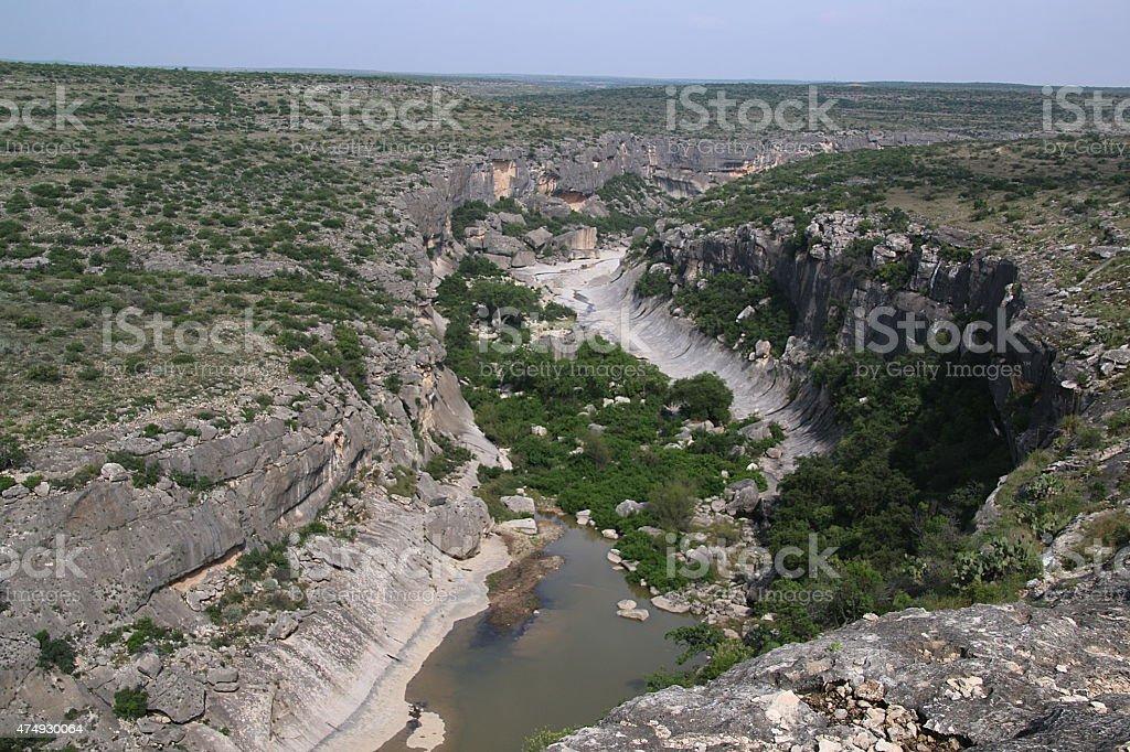 Seminole Canyon - Texas stock photo