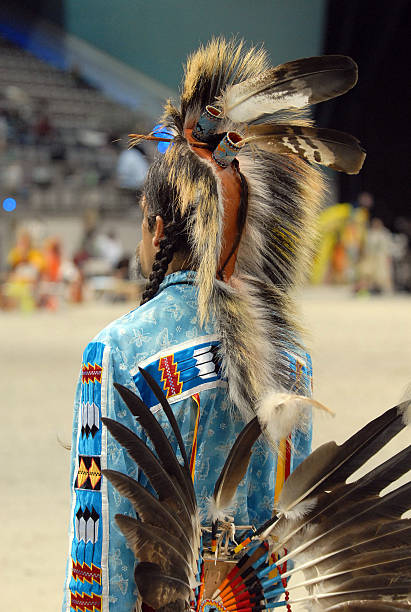 seminole warrior from behind stock photo
