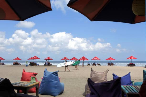 Seminyak Beach Bali Indonesia stock photo