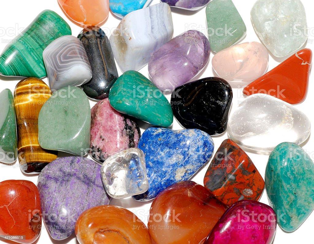 Semi-precious gems royalty-free stock photo