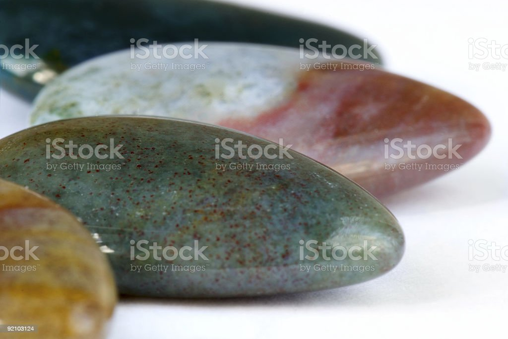 Semi-precious stones are excellent for spa royalty-free stock photo