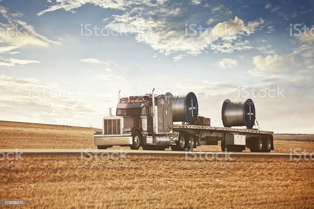 Semi-Trailer Truck stock photo
