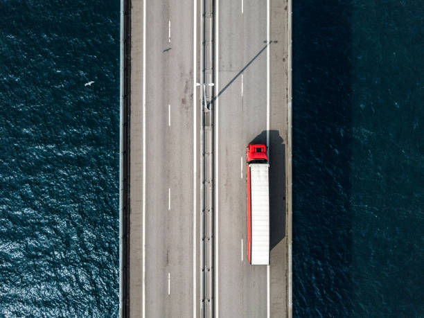 Semi-LKW Überfahrt Öresund-Brücke – Foto