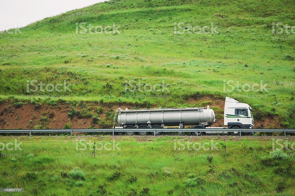 semi-truck fuel tanker royalty-free stock photo