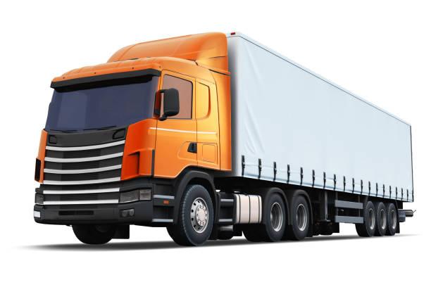 白色背景半卡車隔離 - 剪貼畫 個照片及圖片檔