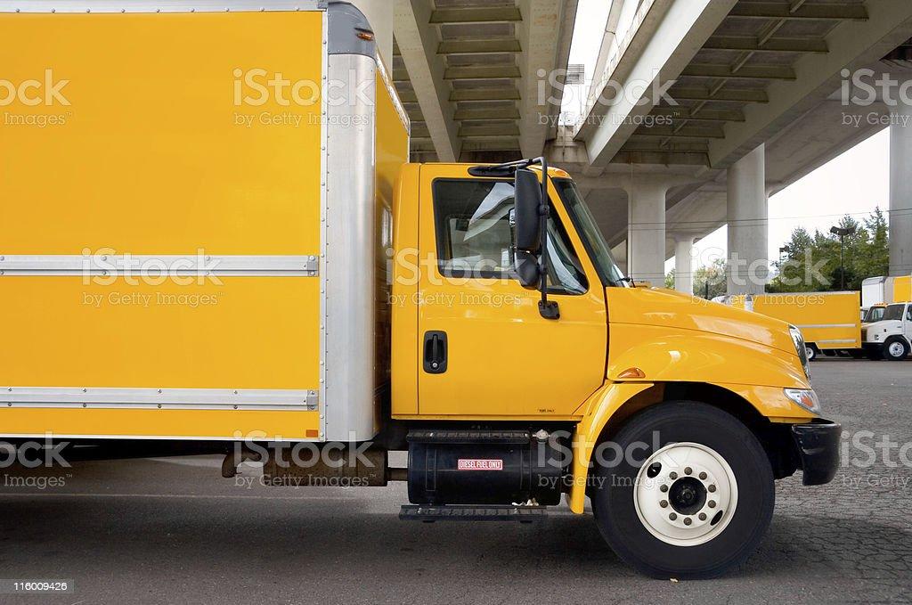 Semi-Truck or Moving Van royalty-free stock photo