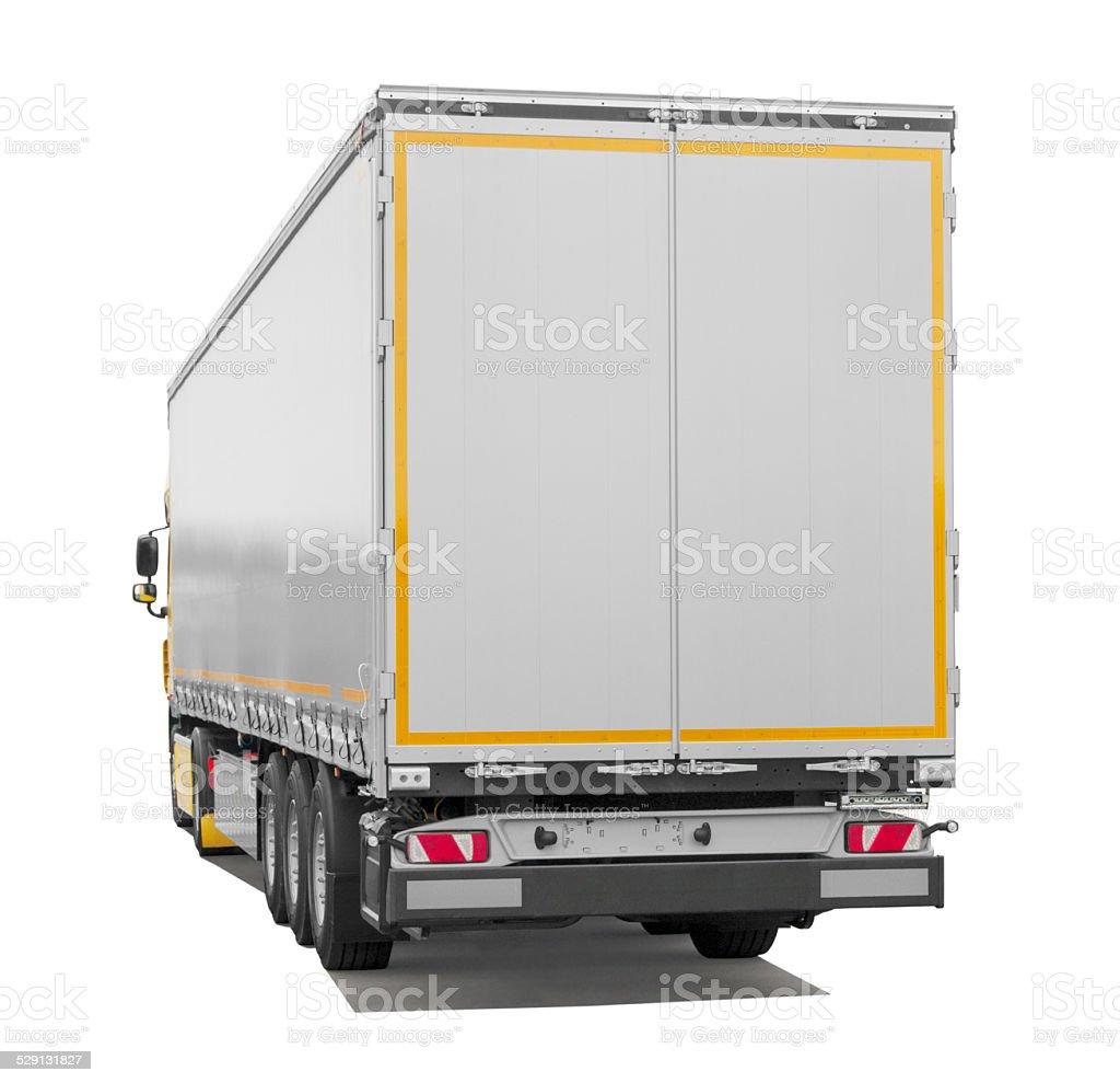 Semi-truck Trailer (isoliert) inkl. Schatten – Foto