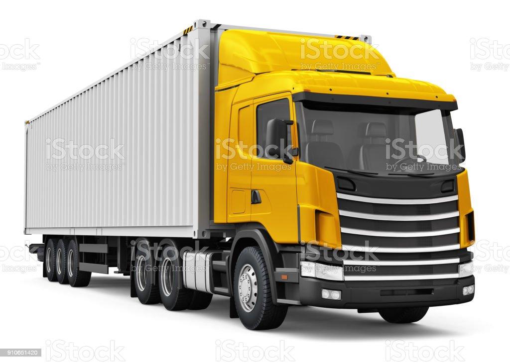 Lastwagen mit Schwergut Container 40 ft – Foto